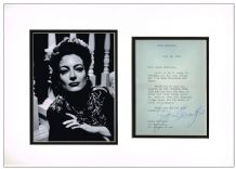 Joan Crawford Autograph Display
